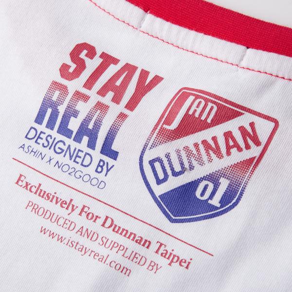 細節- T恤背面印有敦南店僅有的店章,代表店慶T恤各店設計絕無僅有,且獨具各地特色。