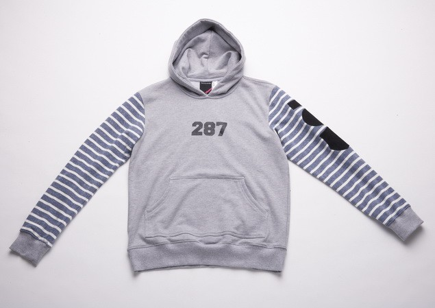 MR.SAY NAVY Patch Hoodie_Gray-01_