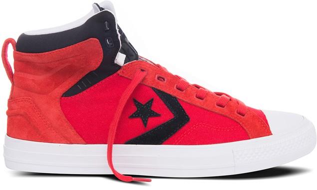《圖三》CONS Star Player Plus系列鞋款以標誌性的星箭符號、舒適大鞋舌、白色鞋頭、棉質加厚鞋領為設計,提供額外的緩衝與支撐,極具現代感的設計,酷勁十足。