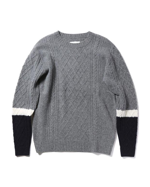 CABLE KNIT grey1