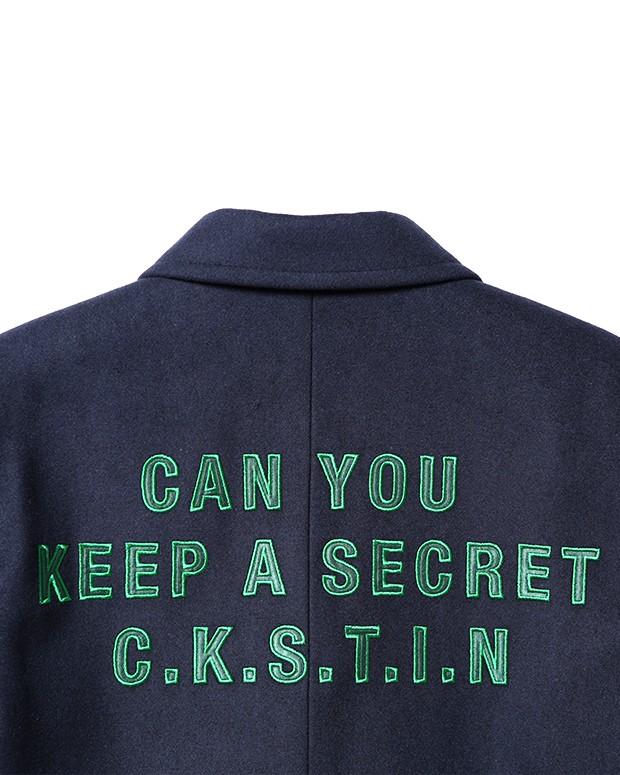 CKSTIN CHESTERFIELD COAT navy