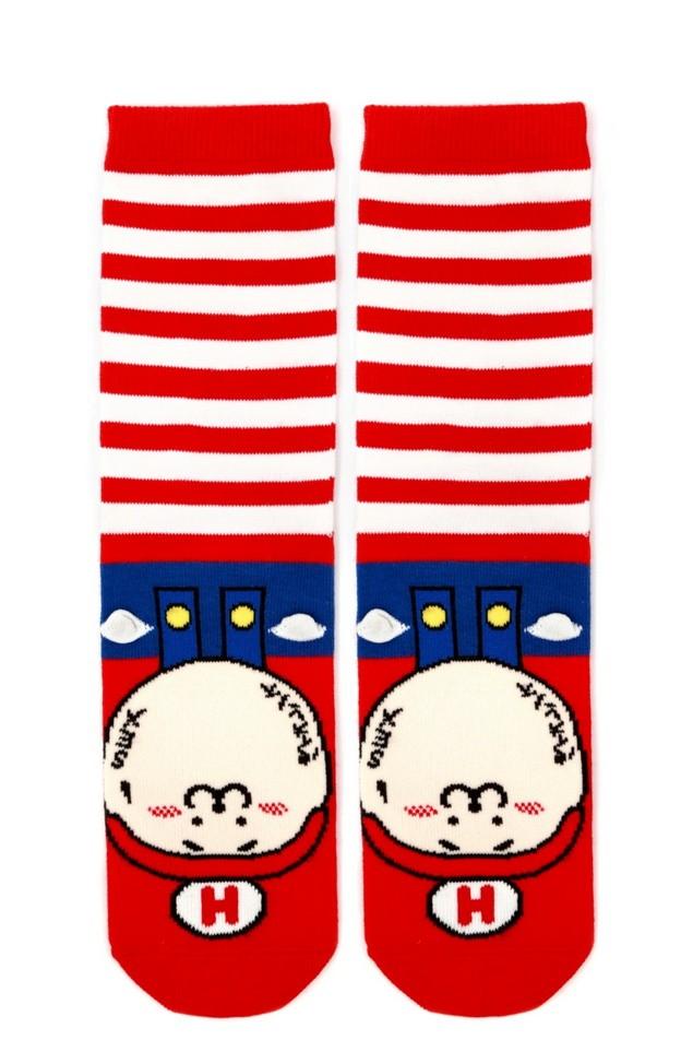 HYOMA SP14 Hario Stripe Red Socks $109