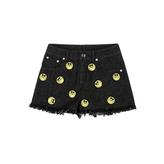 HYOMA SP14 Hyoma Embroidery Black Denim Shorts $759