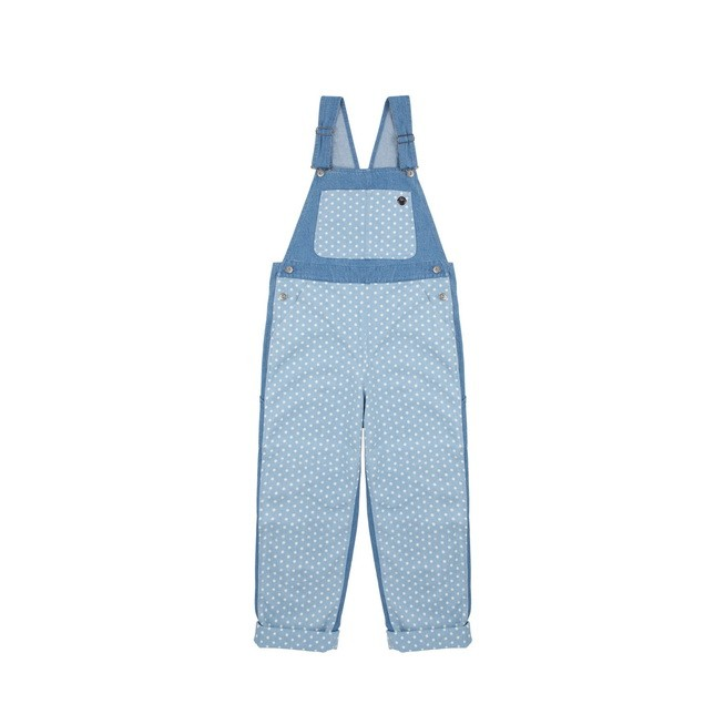 HYOMA SP14 Light Blue Dotted Overall Denim Jumpsuit  $959