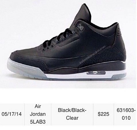 air jordan 5lab3 black- 1