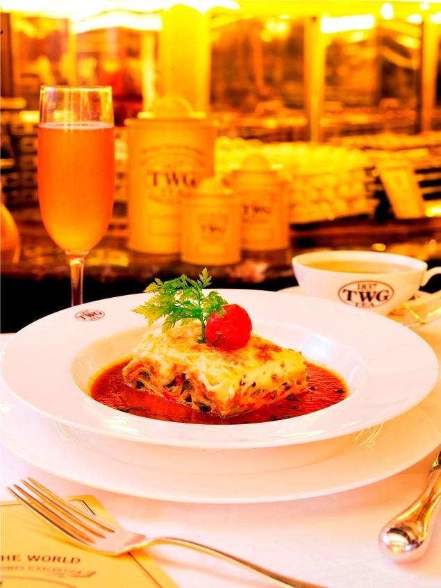 TWG Tea 主廚精選千層麵_搭配經典自製燉蕃茄佐摩洛哥薄荷_茶羅勒醬