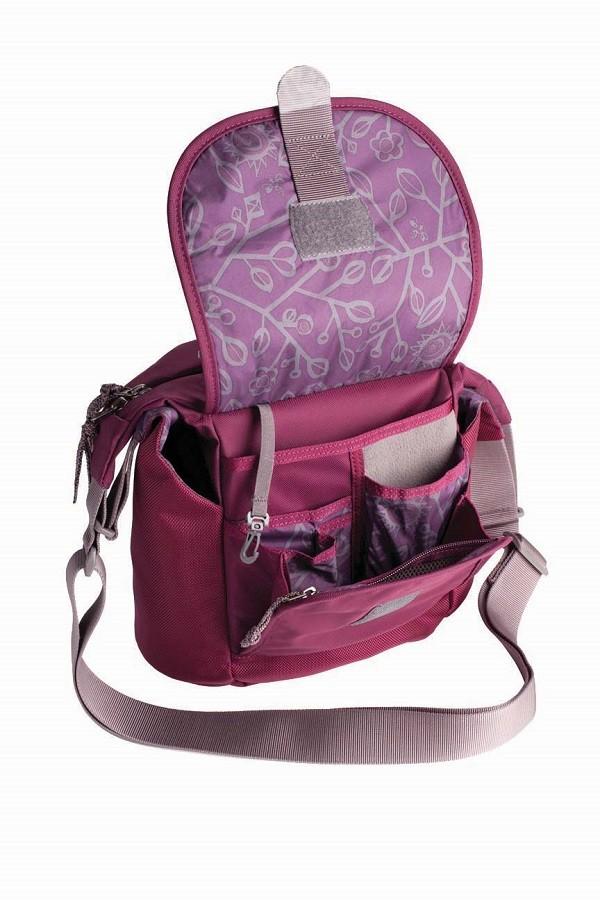 Overland多功能側背包-紫紅-定價2880元