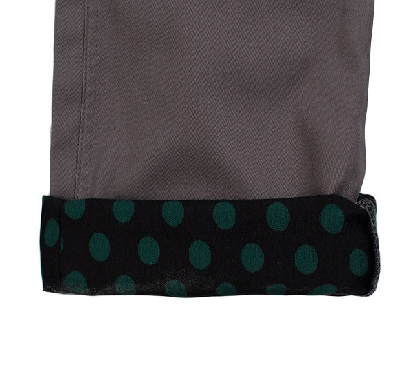 Polka Dots Roll Up Pants_(Grey3)