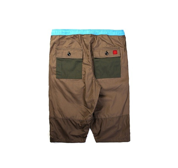 Tonal Panel Shorts_(Army Green2)