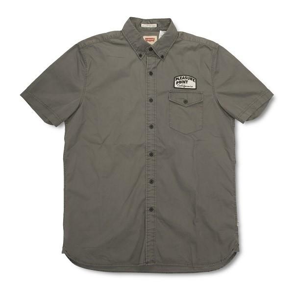 LEVI'S X Jim Phillips 聯名系列_軍綠色短袖襯衫(正面)