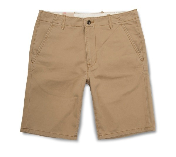 多彩系列卡其色休閒短褲