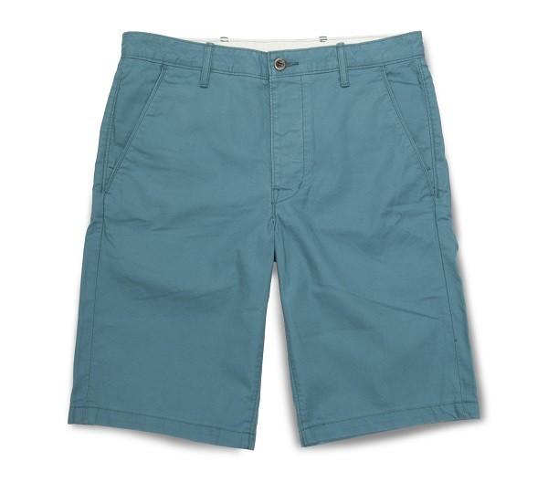 多彩系列藍綠色休閒短褲