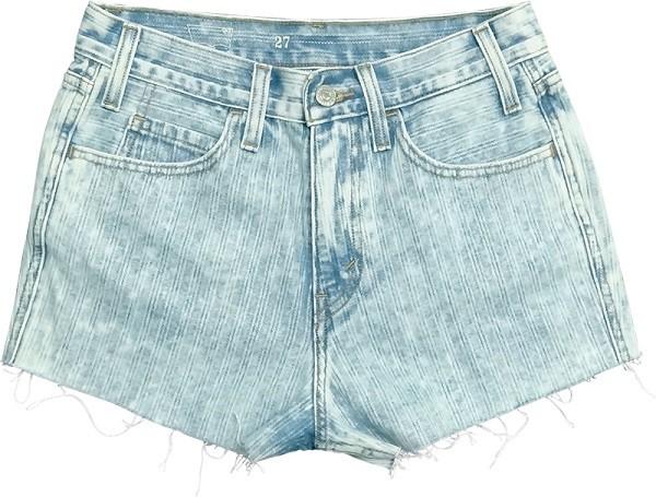 嬉皮風編織紋501抽鬚丹寧短褲展現率性不羈的強烈性格