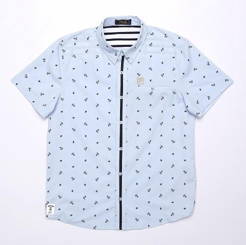 FILA全印男平織襯衫_$2,680