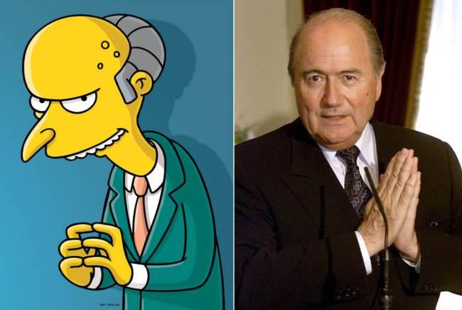 Mr Burns and Sebb Blatter