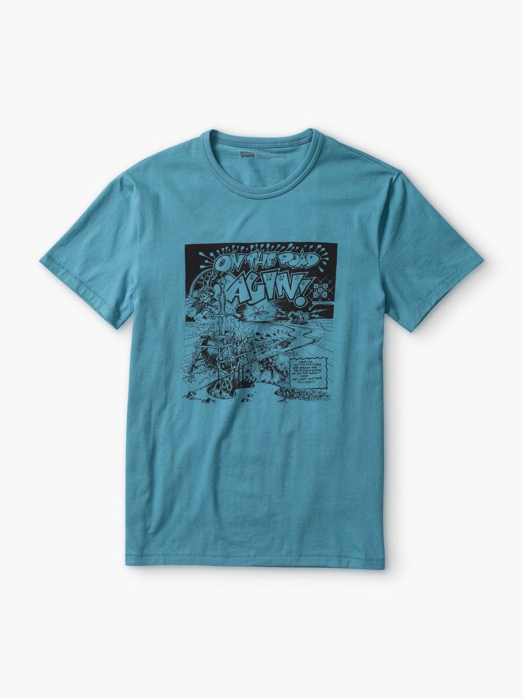 LEVIS X Rick Griffin 聯名款男裝_藍色圖案T