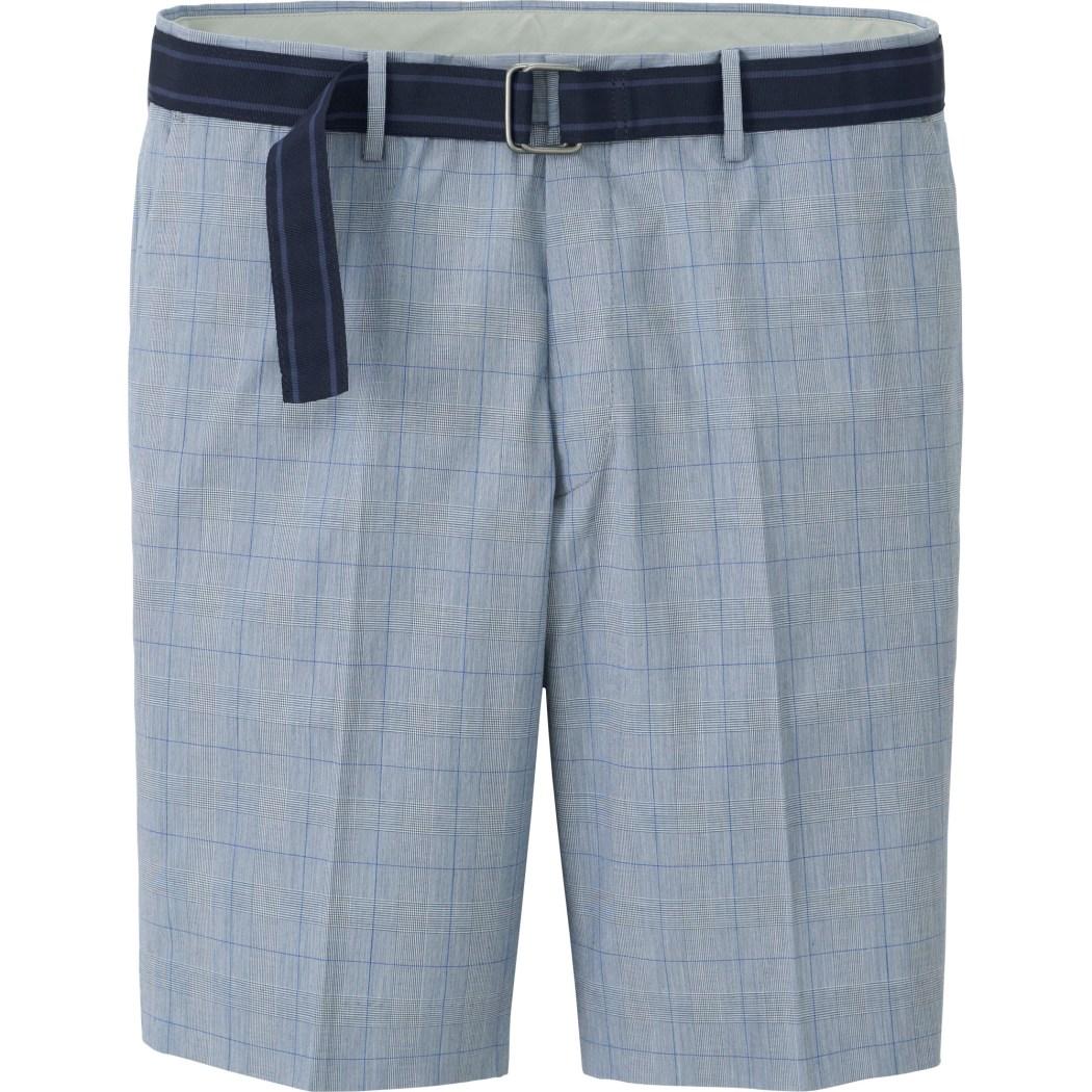 男裝 附腰帶短褲 (格紋) 725-727期間限定價790元