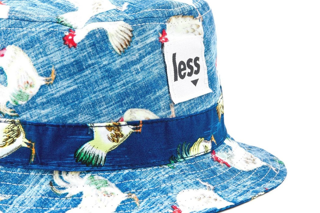 less-rooster-and-pineapple-pattern-bucket-hat-2