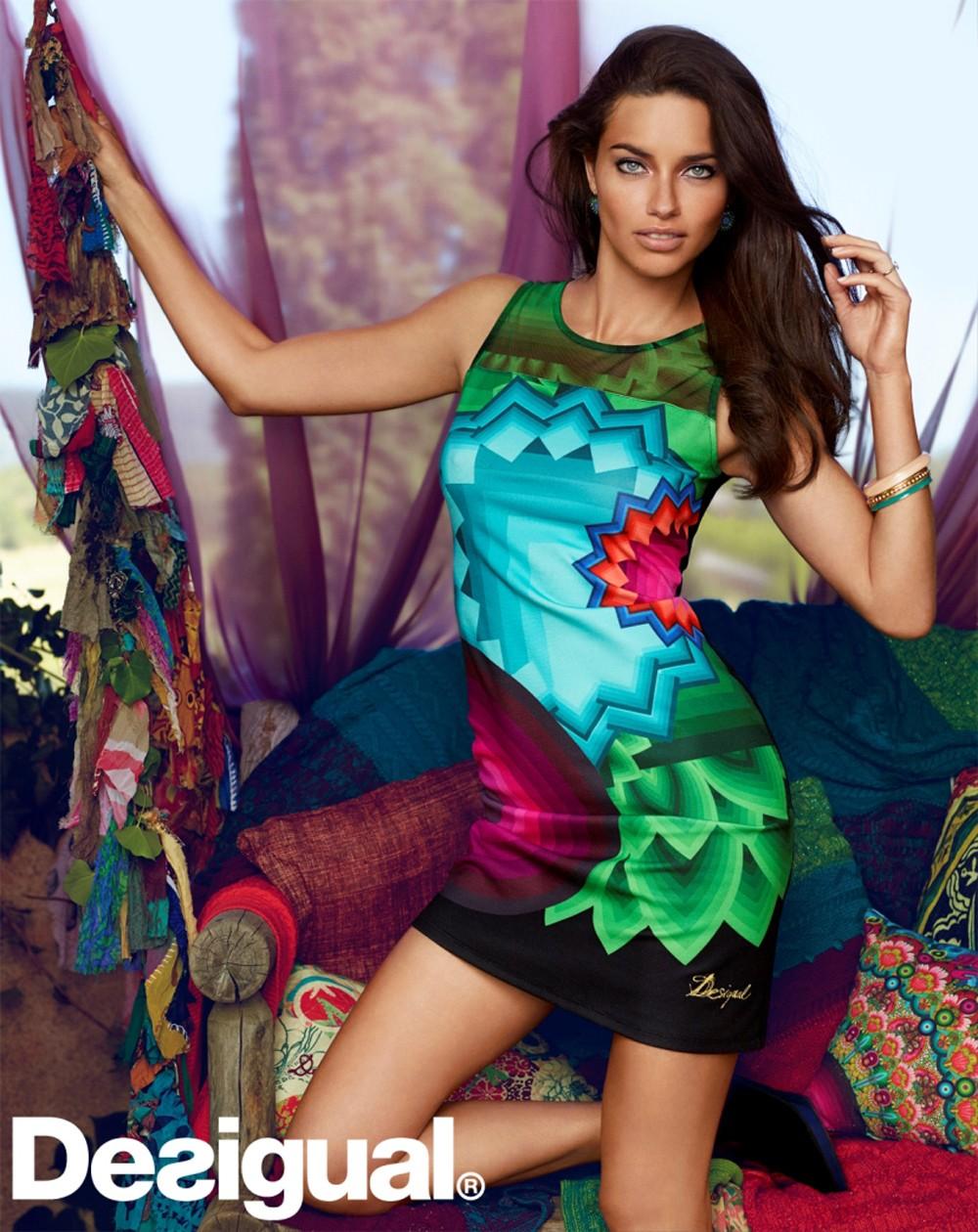巴西超模Adriana Lima擔任Desigual首位形象大使 性感演繹秋冬系列3