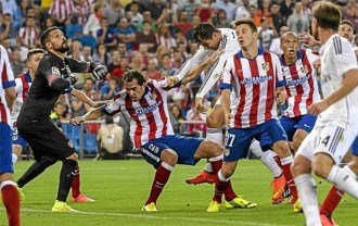 agresion cristiano ronaldo godin real madrid atletico supercopa 2014
