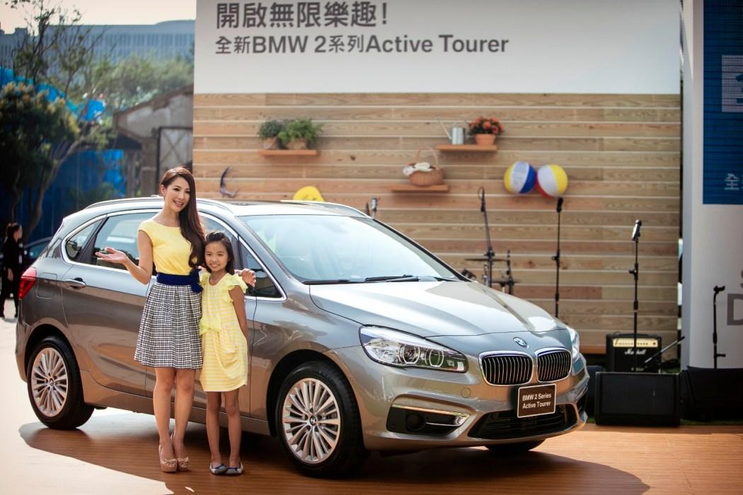 【新聞照片六】幸福氣質人妻林書煒也帶著可愛的女兒與全新2系列Active Tourer一同亮麗現身