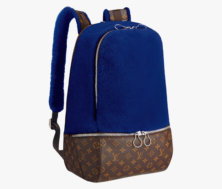 Louis-Vuitton-Marc-Newson-Fleece-Backpack-Blue