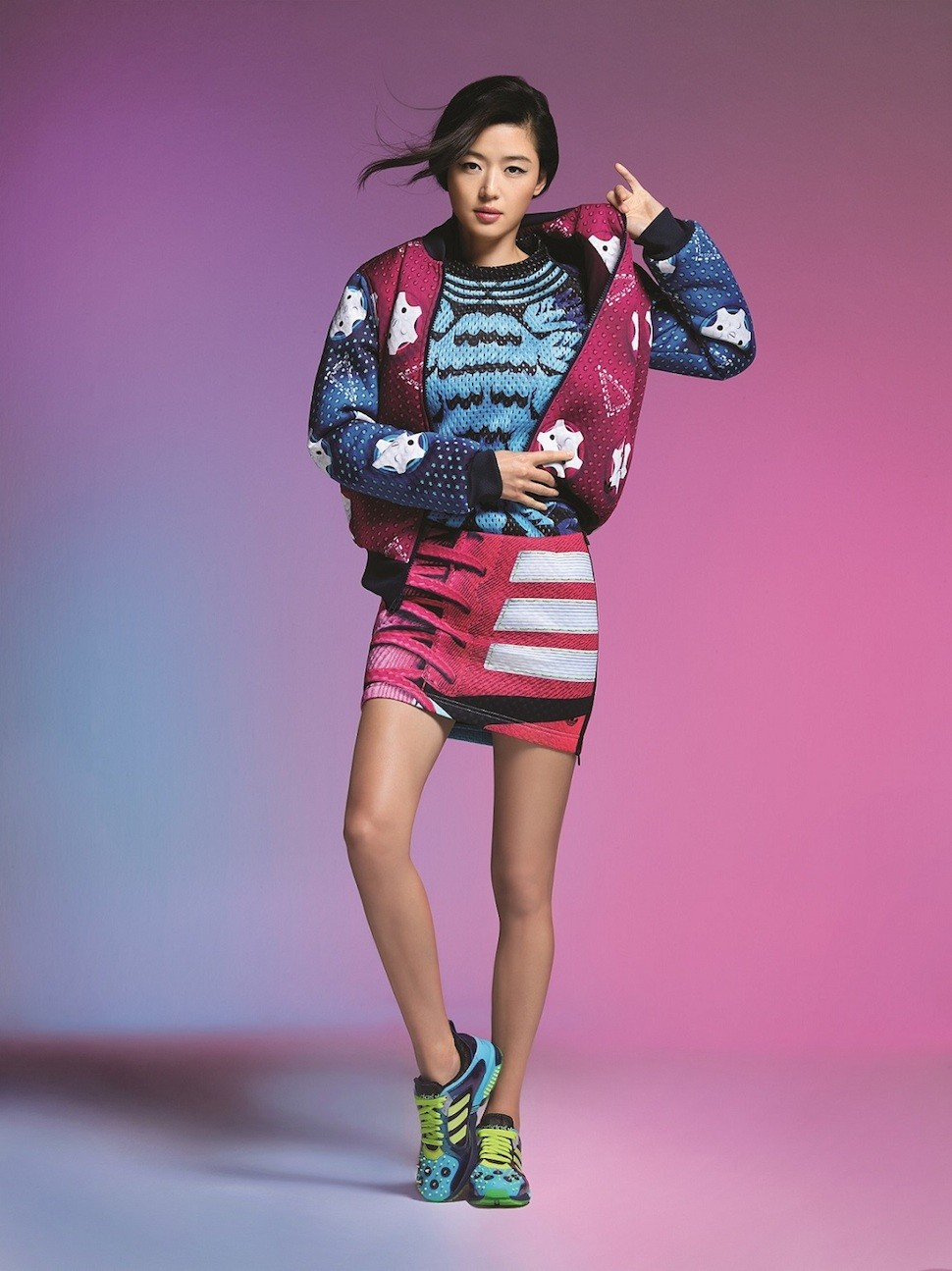 全智賢演繹adidas Originals by Mary Katrantzou系列