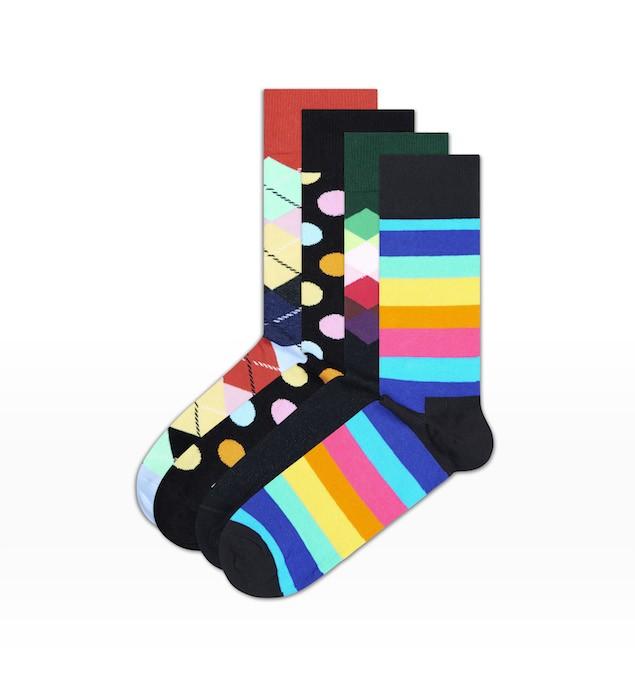 Happy Socks_14FW_Gift Pack_4 Pairs Socks 經典禮盒_多彩斜紋_$1,480(襪款)