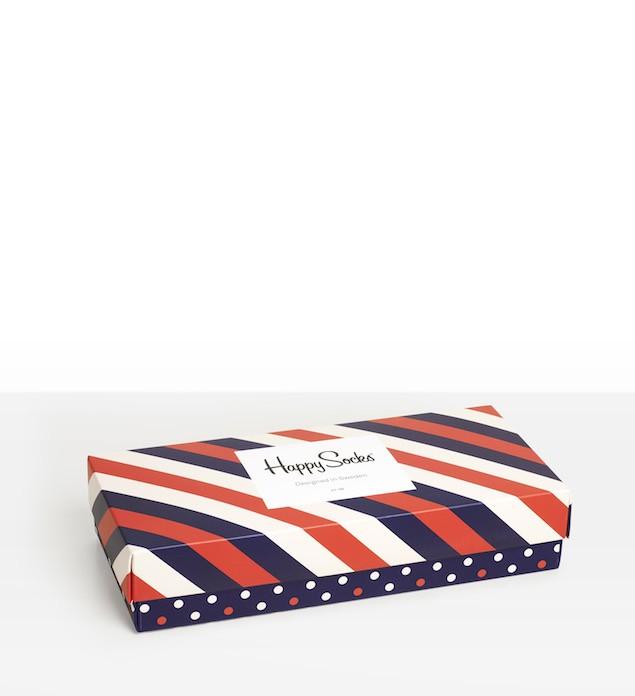 Happy Socks_14FW_Gift Pack_4 Pairs Socks 經典禮盒_紅藍白斜紋_$1,480(正面)