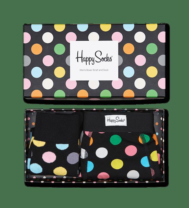 Happy Socks_14FW_Gift Pack_Socks & Underwear_俏皮圓點禮盒組_Men's Boxer Briefs_$1,380(展開)