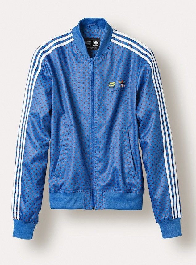 "adidas Originals=Pharrell Williams""Polka Dot"" Superstar Track Jackets NTD 4690 (Blue)"