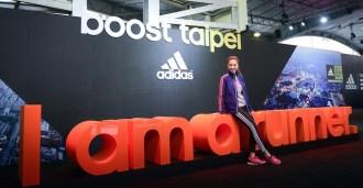 代言人Jolin以美力系隊長身分驚喜造訪adidas Running EXPO 跑步博覽會現場,為即將挑戰台北馬拉松的13,841名女性跑者加油打氣。
