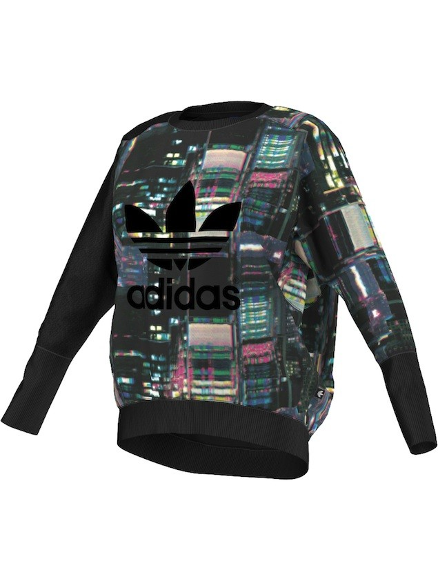 adidas Originals 環遊世界系列-東京霓虹長袖上衣NTD2890