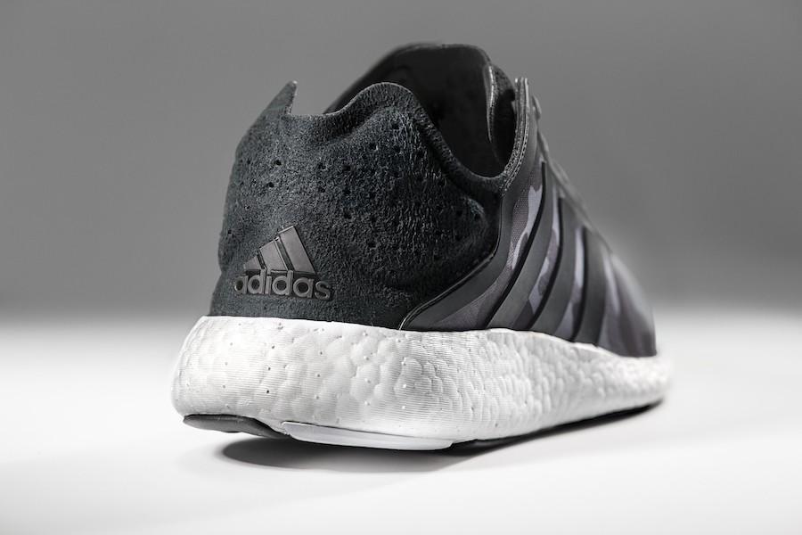 5.adidas Pure Boost首度於全腳掌搭載Boost中底避震科技,以極致簡約設計融合最高能量回饋與舒適腳感