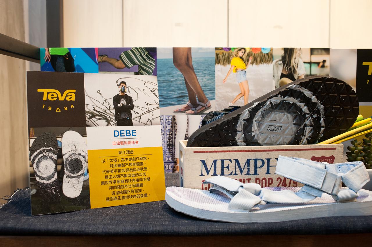 塗鴉創作者 DEBE DIY 鞋款 創作理念為「太極」