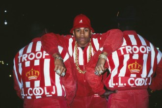LL Cool J for Troop clothing line shoot, 1988.  Ricky Powell was the unofficial Def Jam photographer from 1986ñ1988, photographing Hip Hopís biggest starsóRun-DMC, the Beastie Boys, and LL Cool Jóin their earliest days on the world stage.