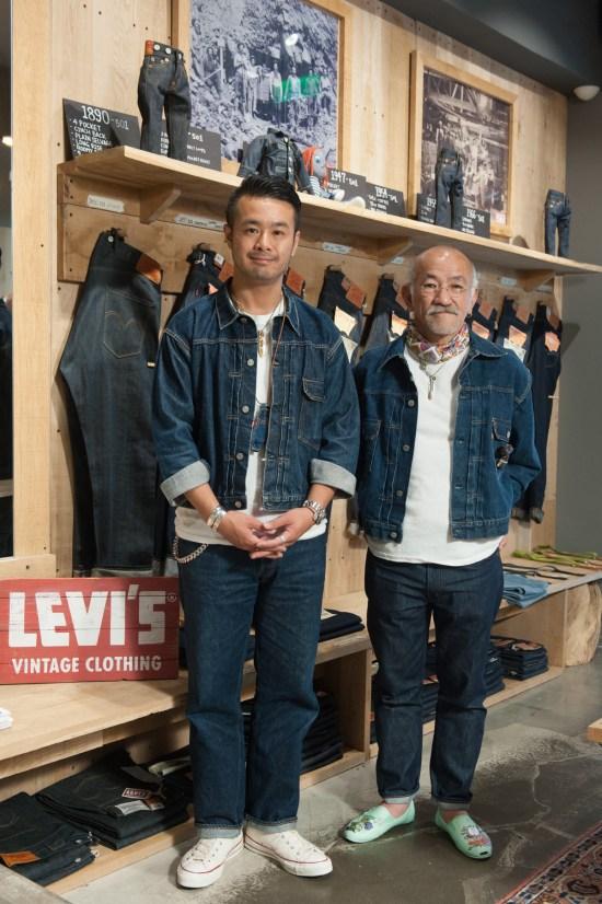 大坪洋介先生(右)與藤原裕先生(左)於LEVI'S東區概念旗艦店合影留念 2
