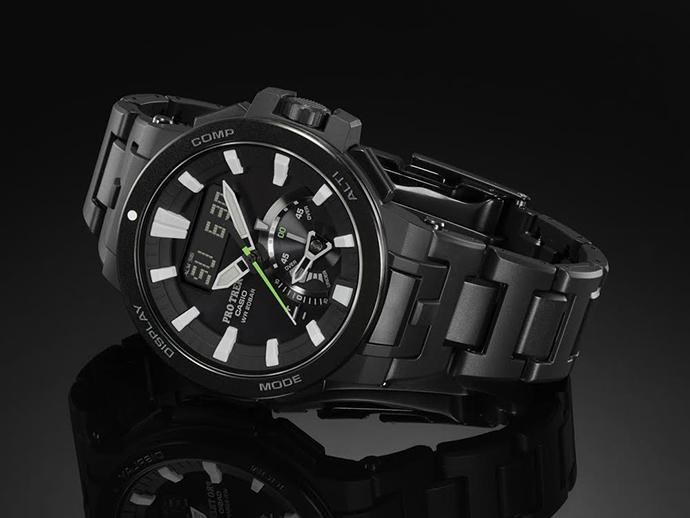 PRW-7000FC- 1  強化橡膠結合金屬的複合式錶帶