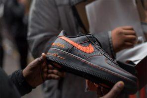 天氣再冷也擋不住想買 VLONE x NikeLab 聯名 Air Force 1 的決心!