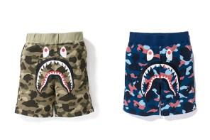 熱得要死還要穿長褲?BAPE 幫你準備好最帥短褲 Camo Shark 了!