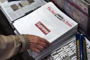 報紙何時開始喪失了高度,讓 Supreme 等廣告都能登上「頭版」?