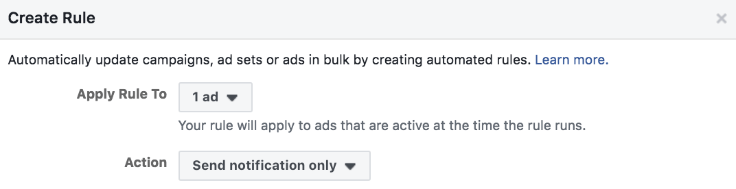 Facebook Ads Custom Notifications
