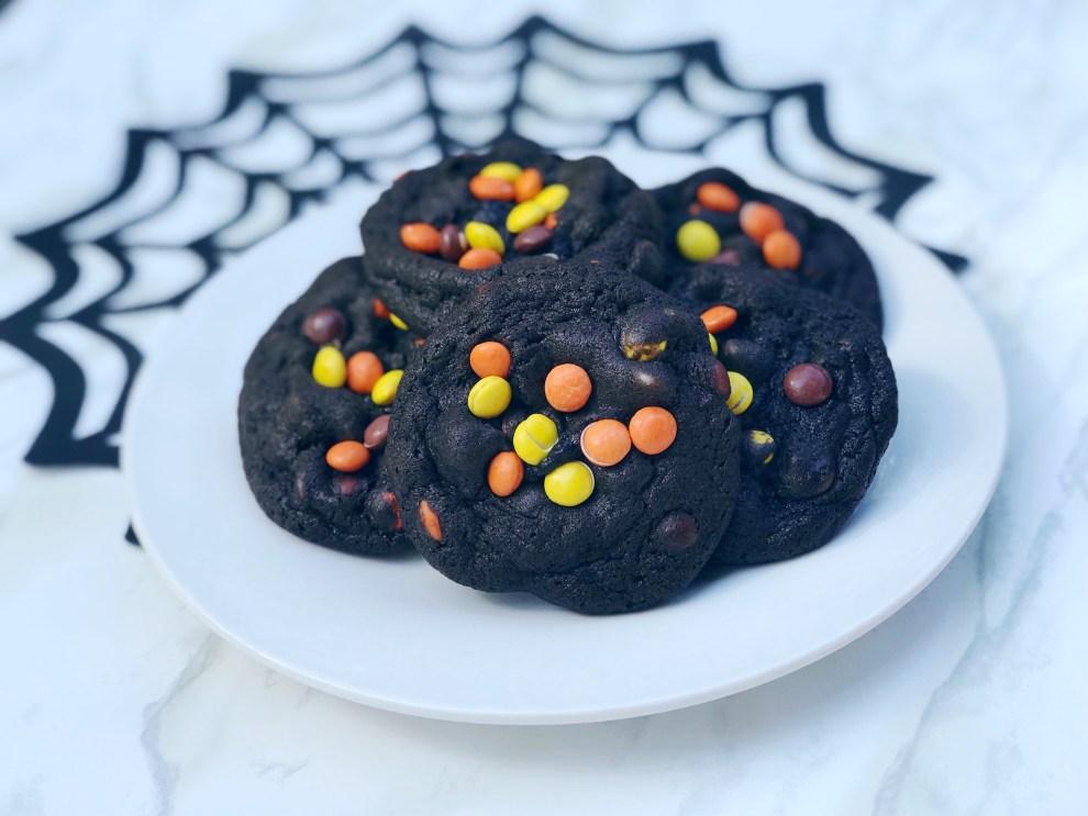 dark chocolate halloween cookies