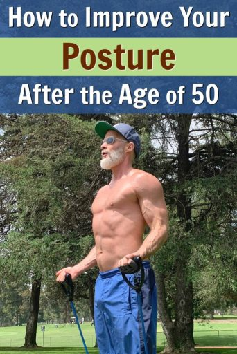Mature athlete uses exercise to improve his posture.