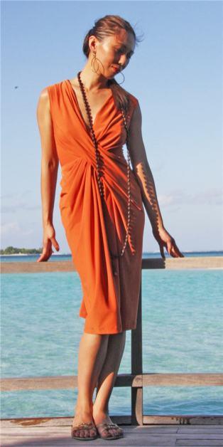V1159 Donna Karan Twist Front Dress