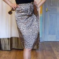 Altered RTW Leopard Skirt