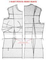 1-Dart Pencil Skirt Block