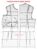 2-Darts Pencil Skirt Block