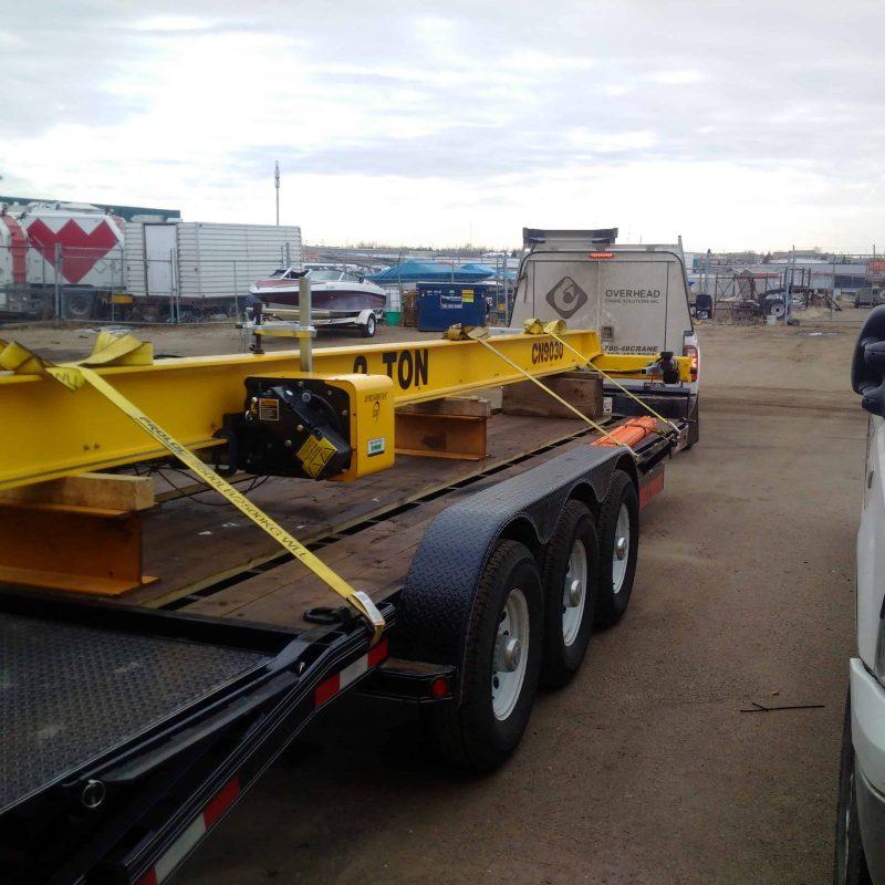 Crane on vehicle