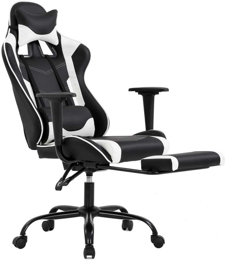 BestOffice Ergonomic PC Gaming Office Chair With Footrest